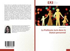 Bookcover of La Professio Juris dans le Statut personnel