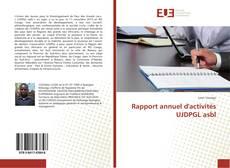Обложка Rapport annuel d'activités UJDPGL asbl