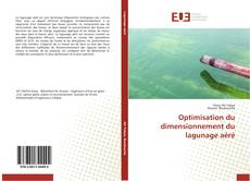 Portada del libro de Optimisation du dimensionnement du lagunage aéré