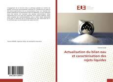 Bookcover of Actualisation du bilan eau et caractérisation des rejets liquides
