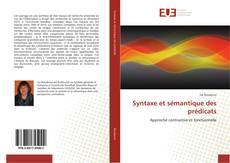 Copertina di Syntaxe et sémantique des prédicats