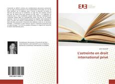 Bookcover of L'astreinte en droit international privé
