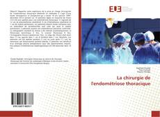 Buchcover von La chirurgie de l'endométriose thoracique