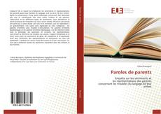 Bookcover of Paroles de parents