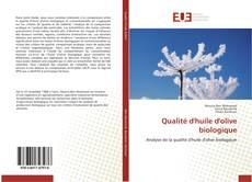 Buchcover von Qualité d'huile d'olive biologique