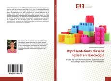 Buchcover von Représentations du sens lexical en lexicologie