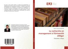 Borítókép a  La recherche en management à l'Université d'Alger - hoz