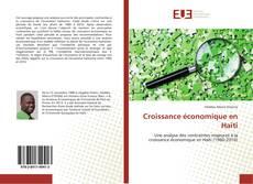 Capa do livro de Croissance économique en Haïti