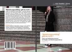 """Capa do livro de """"Beziehungsunfähig""""    gibt  es  nicht !"""