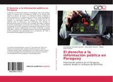 Buchcover von El derecho a la información pública en Paraguay
