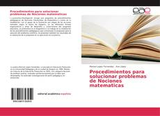 Copertina di Procedimientos para solucionar problemas de Nociones matematicas
