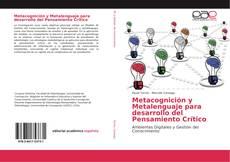 Portada del libro de Metacognición y Metalenguaje para desarrollo del Pensamiento Crítico