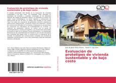Buchcover von Evaluación de prototipos de vivienda sustentable y de bajo costo