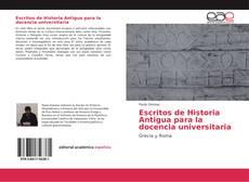 Обложка Escritos de Historia Antigua para la docencia universitaria