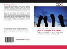 Portada del libro de Justicia para Carmen
