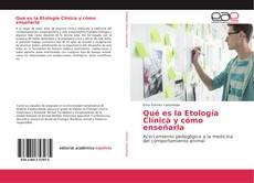 Copertina di Qué es la Etología Clínica y cómo enseñarla