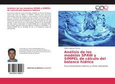 Análisis de los modelos SPAW y SIMPEL de cálculo del balance hídrico的封面