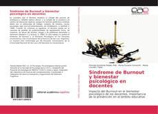 Bookcover of Síndrome de Burnout y bienestar psicológico en docentes
