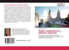 Buchcover von Poder Legislativo y política exterior