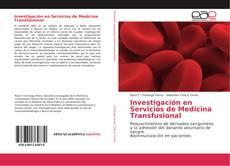 Copertina di Investigación en Servicios de Medicina Transfusional