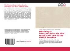 Copertina di Morfología interpretativa de alta resolución con datos LiDAR Ecuador