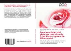 Capa do livro de Funcionalidad del sistema proteína de frijol Lima y goma de Flamboyán