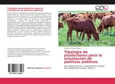 Capa do livro de Tipología de productores para la orientación de políticas públicas