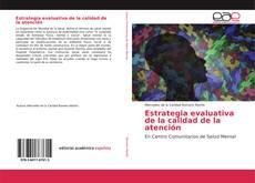 Portada del libro de Estrategia evaluativa de la calidad de la atención
