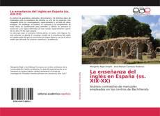 Portada del libro de La enseñanza del inglés en España (ss. XIX-XX)