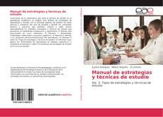 Capa do livro de Manual de estrategias y técnicas de estudio