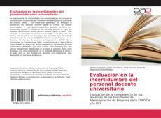 Bookcover of Evaluación en la incertidumbre del personal docente universitario