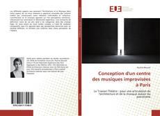 Conception d'un centre des musiques improvisées à Paris kitap kapağı