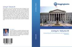 Capa do livro de Living It. Volume III