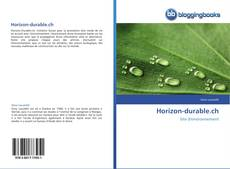 Capa do livro de Horizon-durable.ch