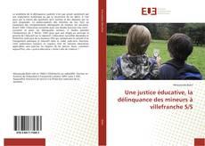 Buchcover von Une justice éducative, la délinquance des mineurs à villefranche S/S
