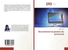 Copertina di Recrutement et gestion du personnel
