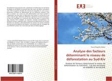 Analyse des facteurs déterminant le niveau de déforestation au Sud-Kiv的封面
