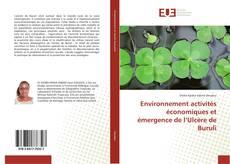Bookcover of Environnement activités économiques et émergence de l'Ulcère de Buruli