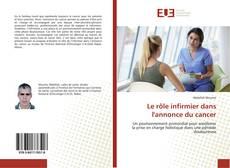 Portada del libro de Le rôle infirmier dans l'annonce du cancer