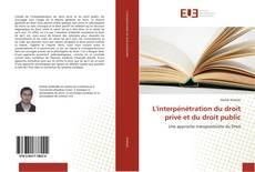 L'interpénétration du droit privé et du droit public kitap kapağı