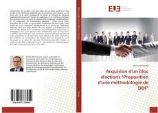 """Couverture de Acquision d'un bloc d'actions """"Proposition d'une méthodologie de DDF"""""""