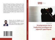 Portada del libro de Enseignement de la traduction juridique sur objectifs spécifiques