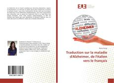 Capa do livro de Traduction sur la maladie d'Alzheimer, de l'italien vers le français