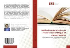 Méthodes quantitatives et recherche scientifique en sciences sociales kitap kapağı