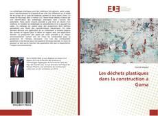 Bookcover of Les déchets plastiques dans la construction a Goma