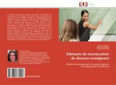 Couverture de Eléments de structuration du discours enseignant