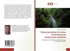 Couverture de Characterization of safou of Kinshasa by multivariate statistics