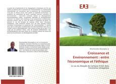 Bookcover of Croissance et Environnement : entre l'économique et l'éthique