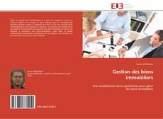 Capa do livro de Gestion des biens immobiliers