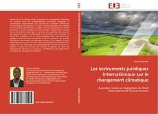 Couverture de Les instruments juridiques internationaux sur le changement climatique